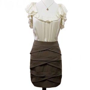 ANTHROPOLOGIE BY ESLEY Ivory & Slate Sheath Dress